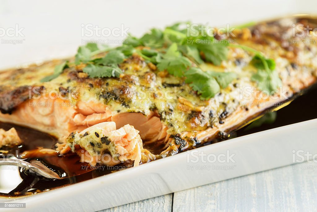 Furikake Salmon stock photo