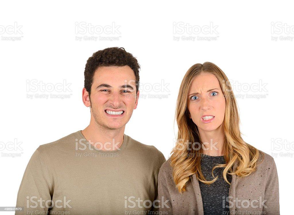 Furious couple stock photo