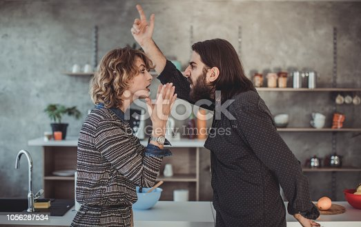 istock Furious couple shouting 1056287534
