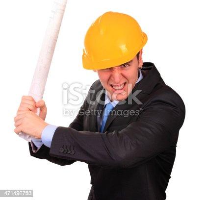 istock Furious engineer 471492753