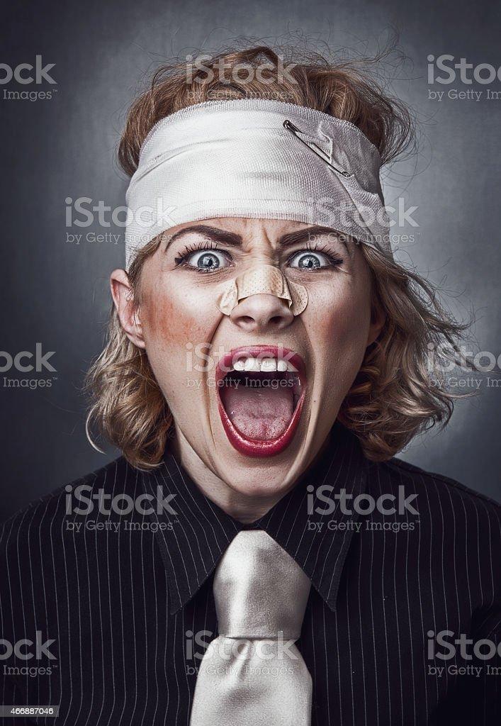 Furious face stock photo