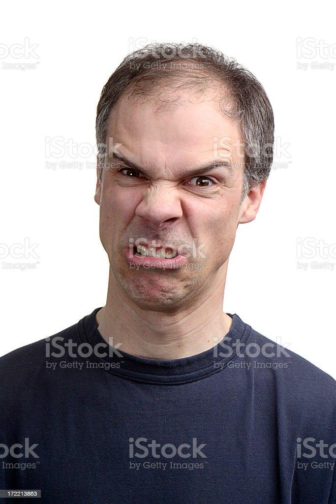 Furious Man royalty-free stock photo