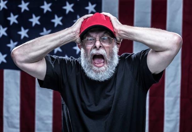 憤怒的偏執黨派 alt 右共和黨選民 - 諷刺畫 個照片及圖片檔