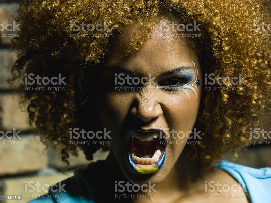 Furious royalty-free stock photo