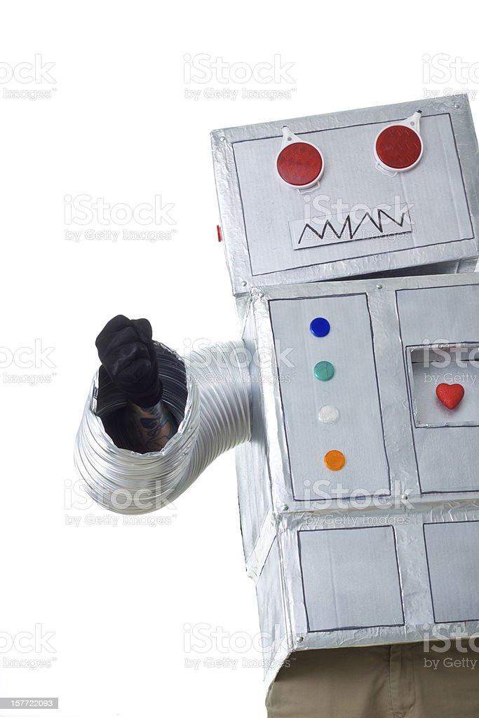 furious robot stock photo