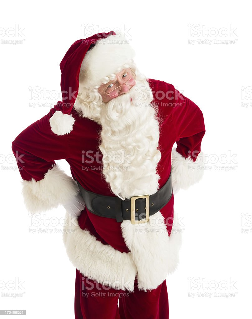 Furious Santa Claus Standing With Hands On Hips royalty-free stock photo