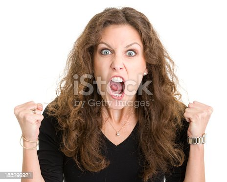 1138361116 istock photo Furious Screaming Young Woman 185296921