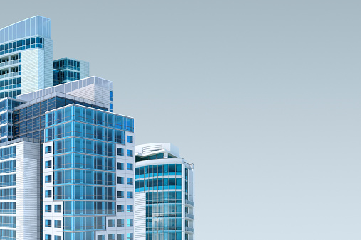 istock Furistic city skyline background for facility management 521851719