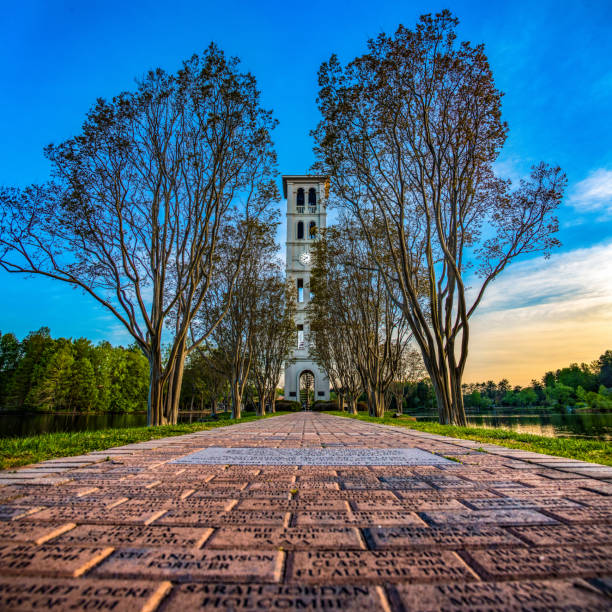 Furman Bell Tower in Greenville, South Carolina, USA. Furman Bell Tower near Greenville, South Carolina SC. liberty bridge budapest stock pictures, royalty-free photos & images