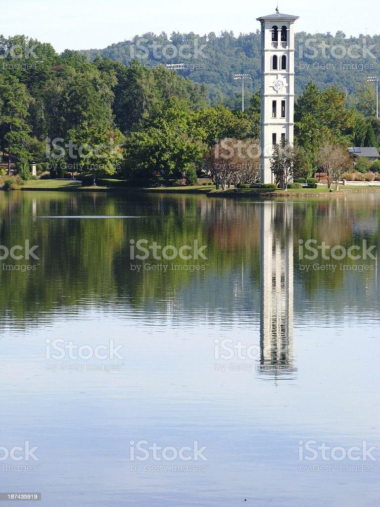 Furman University Bell Tower stock photo