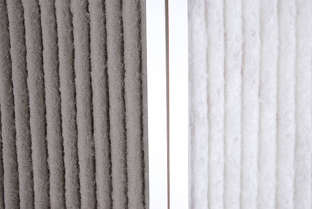 Furnace  Filter Before and After stock photo