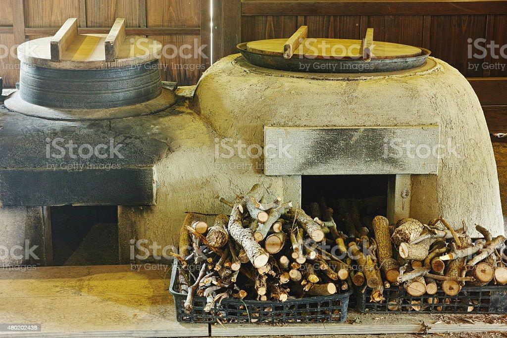 Furnace of Japan stock photo