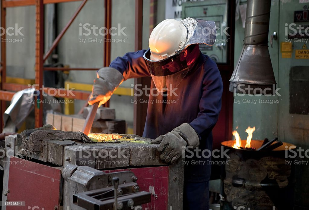 Furnace Worker royalty-free stock photo