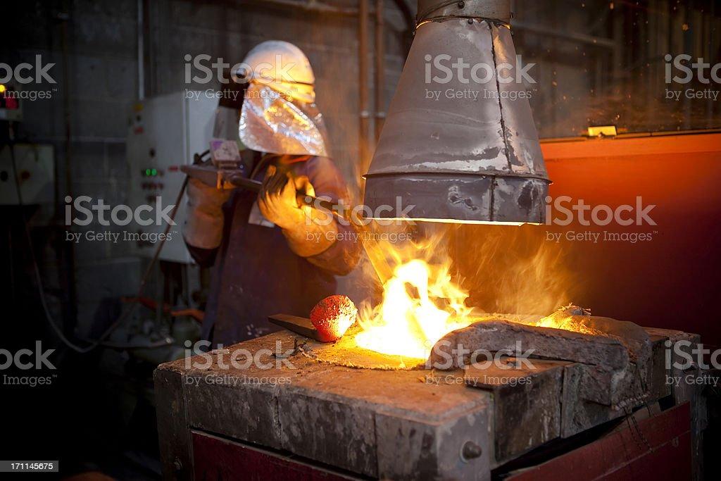 Furnace Worker stock photo