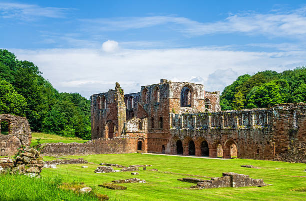 furness abbey in barrow-in-furness, england - cumbria stock pictures, royalty-free photos & images