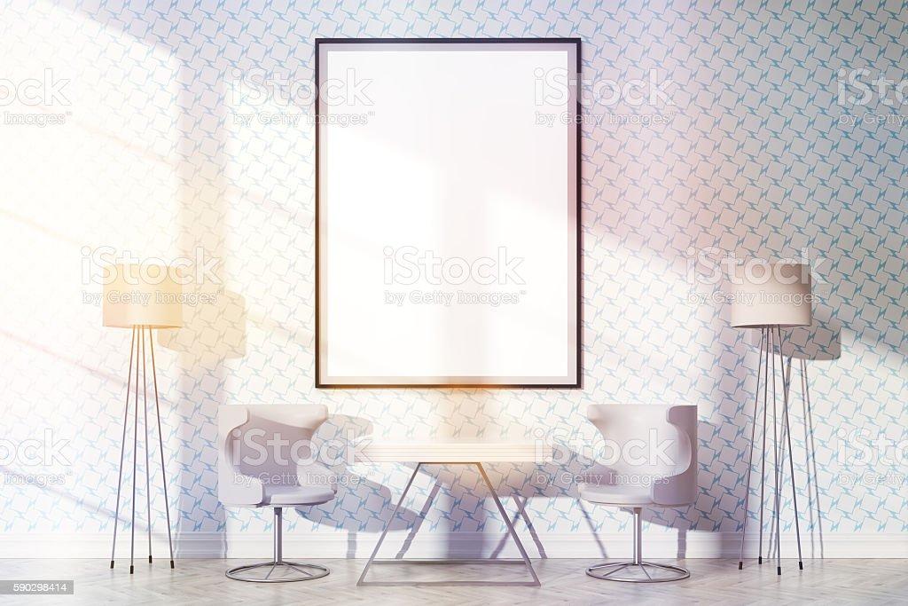 Furnished interior with frame toning Стоковые фото Стоковая фотография
