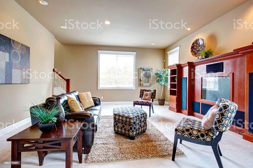 Eingerichtete Moderne Wohnzimmer Stockfoto und mehr Bilder ...