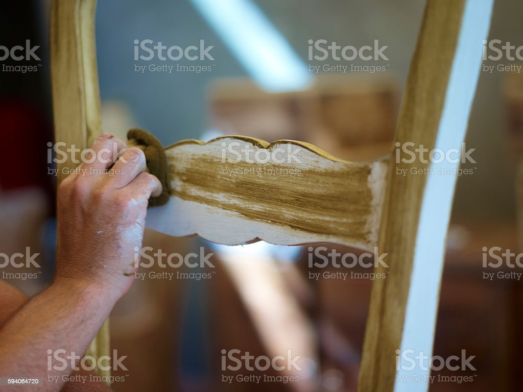 Furniture Decorative Painting Refinishing Classes Patina stock photo