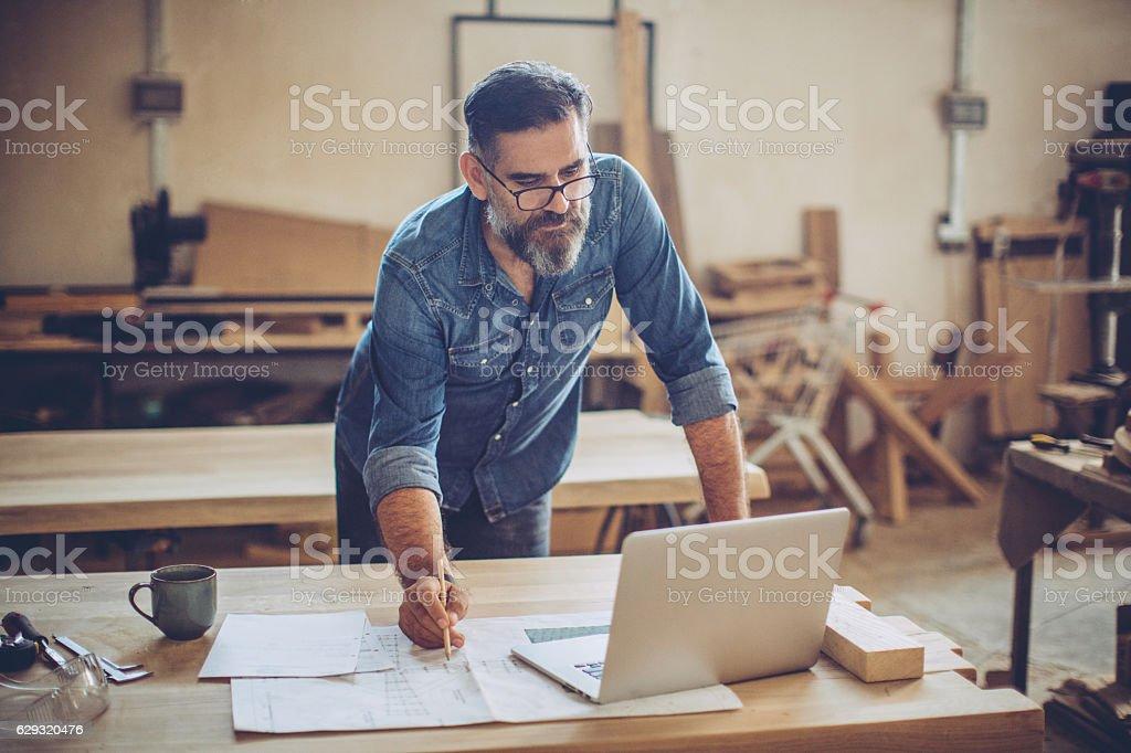 Furniture designer stock photo