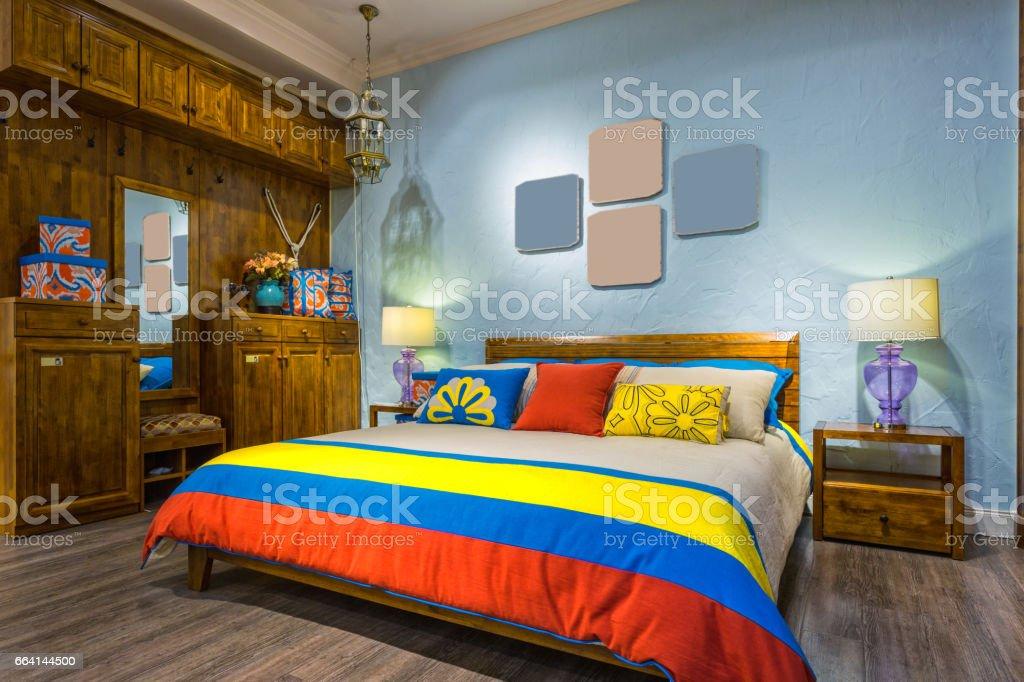 Furniture environment, bedroom foto stock royalty-free