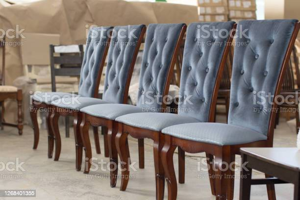 Photo of Furniture factory. Manufacture of chairs