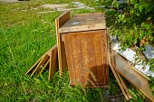 istock Furniture garbage in nature 1042372124