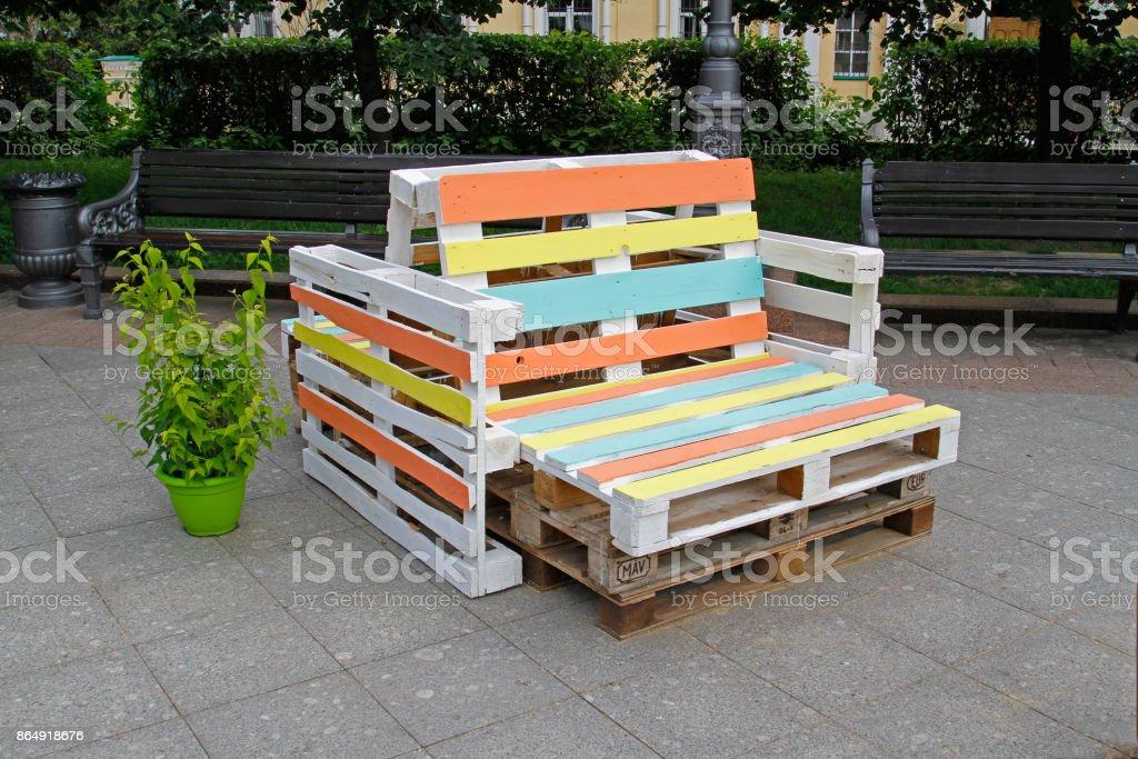 Möbel Aus Der Palette Zum Sitzen Stock Fotografie Und Mehr Bilder