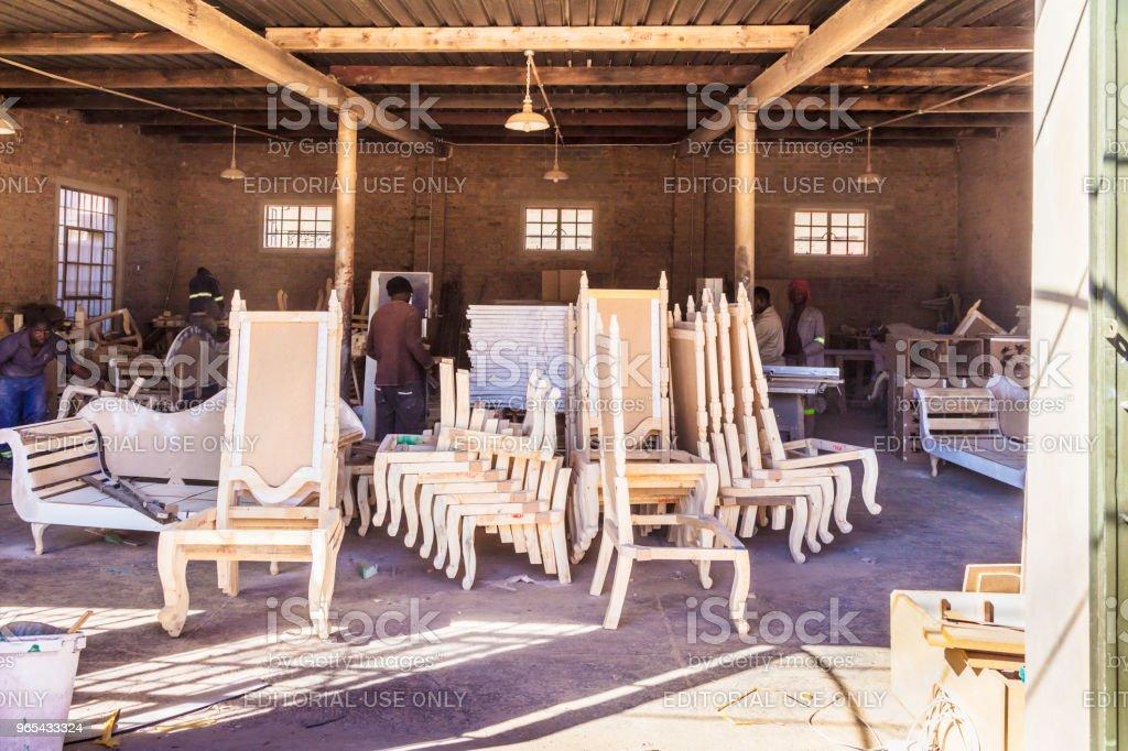 約翰尼斯堡維多利亞圍場的傢俱製造 - 免版稅人圖庫照片