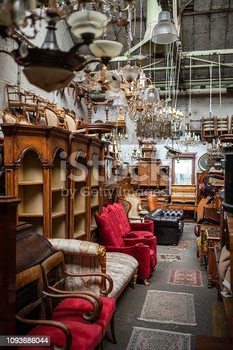 Germany: Furniture on flea market.