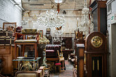 Germany: Furniture on flea market.