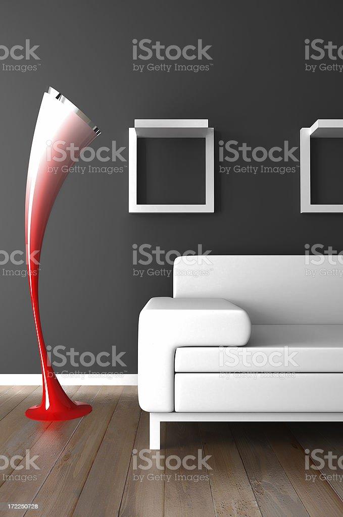 furniture render (CGI) royalty-free stock photo