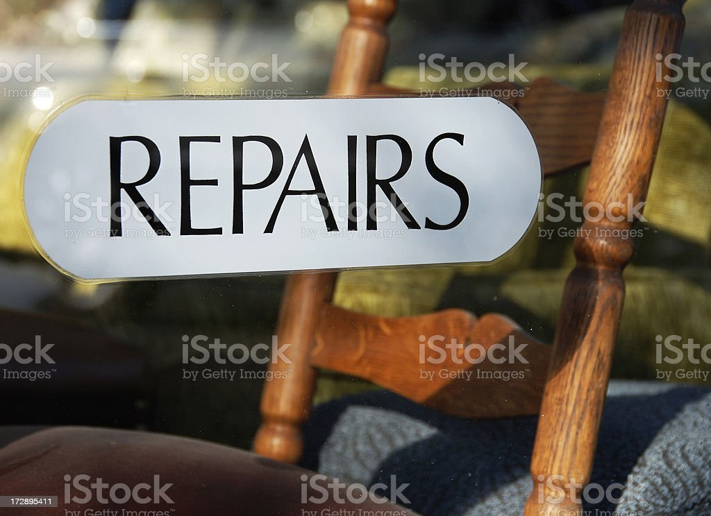 Furniture repairs royalty-free stock photo
