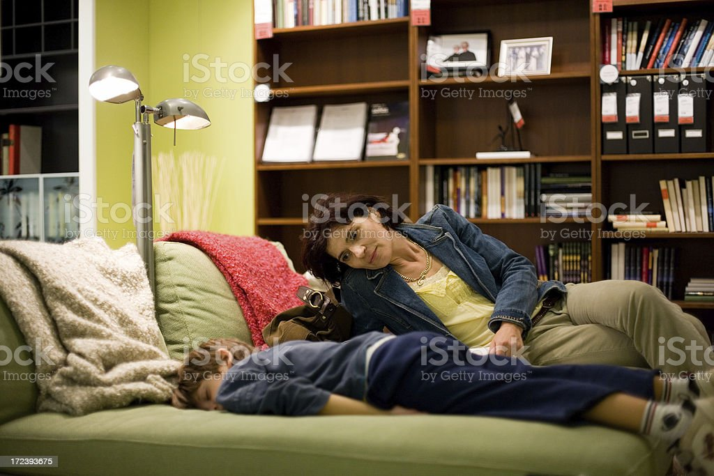 Furniture Shopping Break royalty-free stock photo