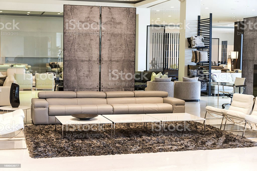 Furniture showroom stock photo