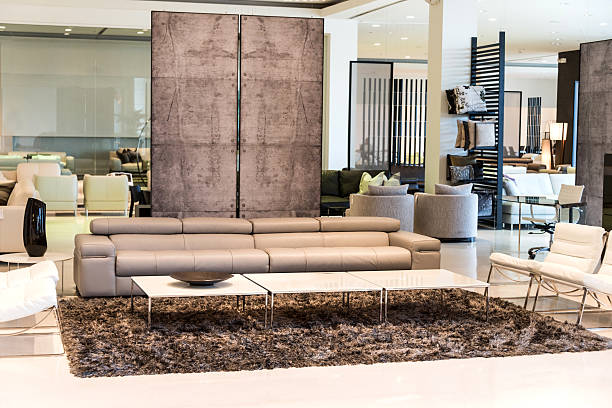 Furniture showroom Living room in a furniture showroom showroom stock pictures, royalty-free photos & images