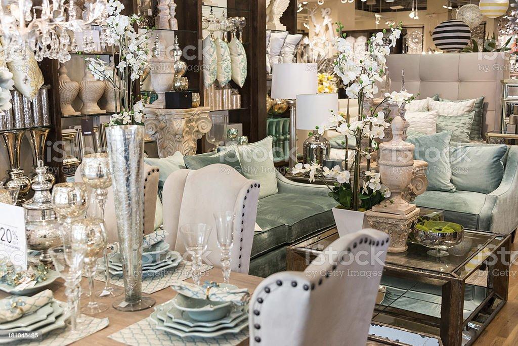 Furniture store stock photo