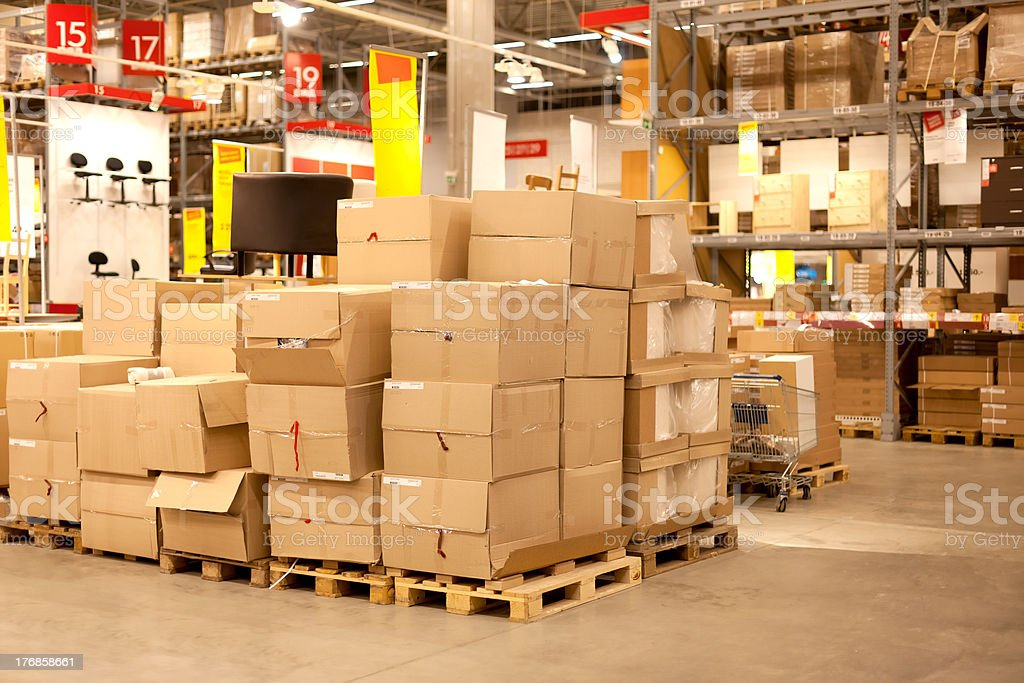 Furniture store warehouse