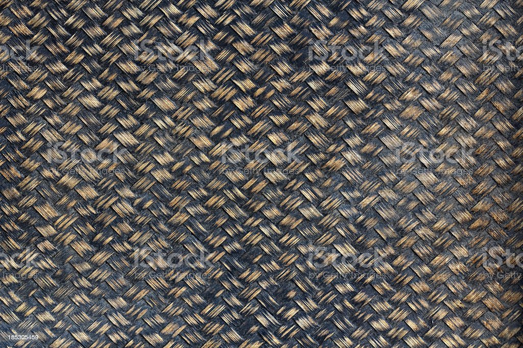 Close-up view of a weave used to make furniture