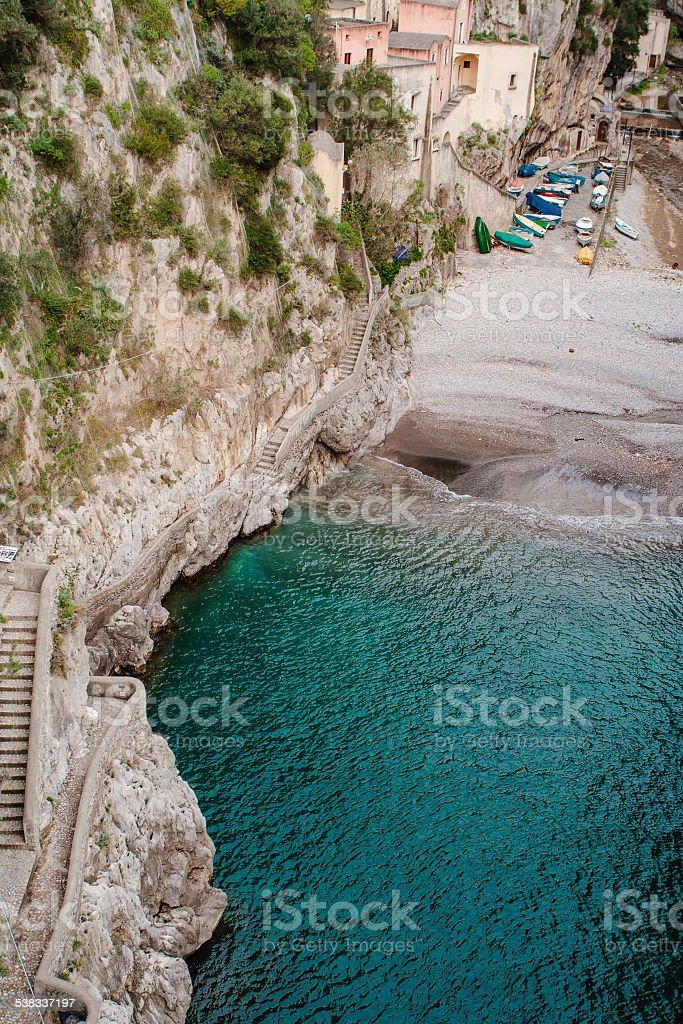 Furore sulla costiera amalfitana, Italia - foto stock