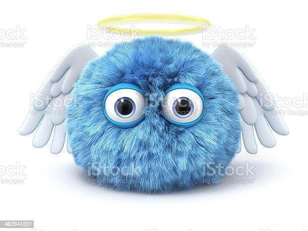 Furry blue angel with wings and halo isolated on white picture id462944201?b=1&k=6&m=462944201&s=612x612&h=kz saxmqewngma7mmccoqesouuzi5it1k1zz9ku673q=