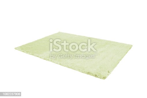 Furry carpet. Isolated on white background