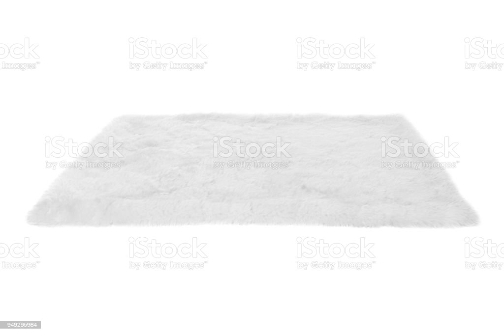 Furry carpet. Isolated on white