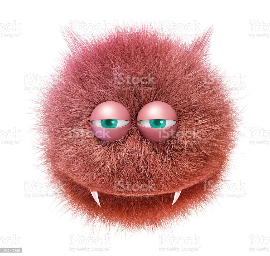 furry funny devil stock photo