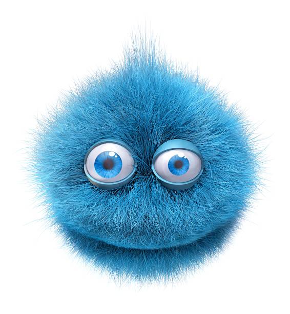 pelzigen smiley-Charakter – Foto