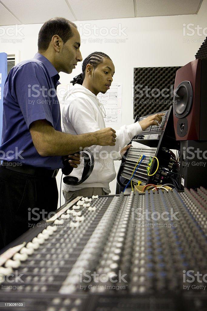 further education: audio education stock photo