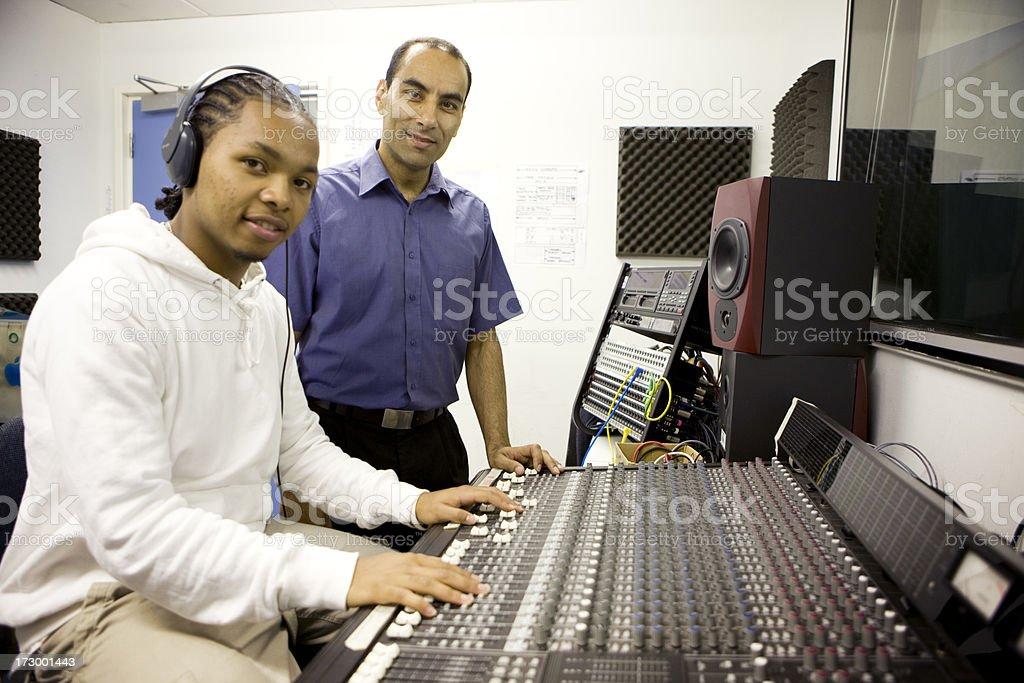 further education: audio school stock photo