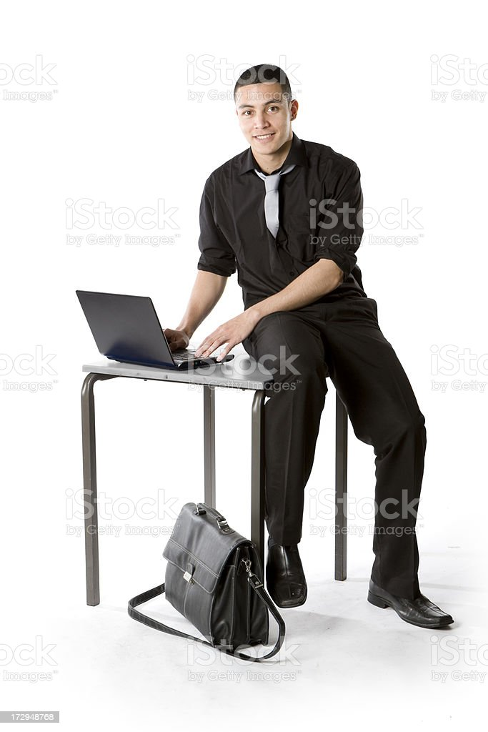 further education: casual student royalty-free stock photo