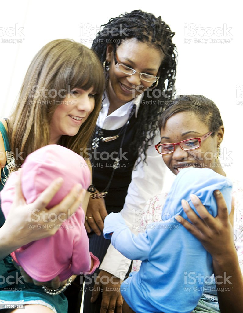 further education: child care royalty-free stock photo