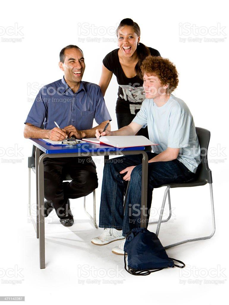 further education: enjoying class royalty-free stock photo