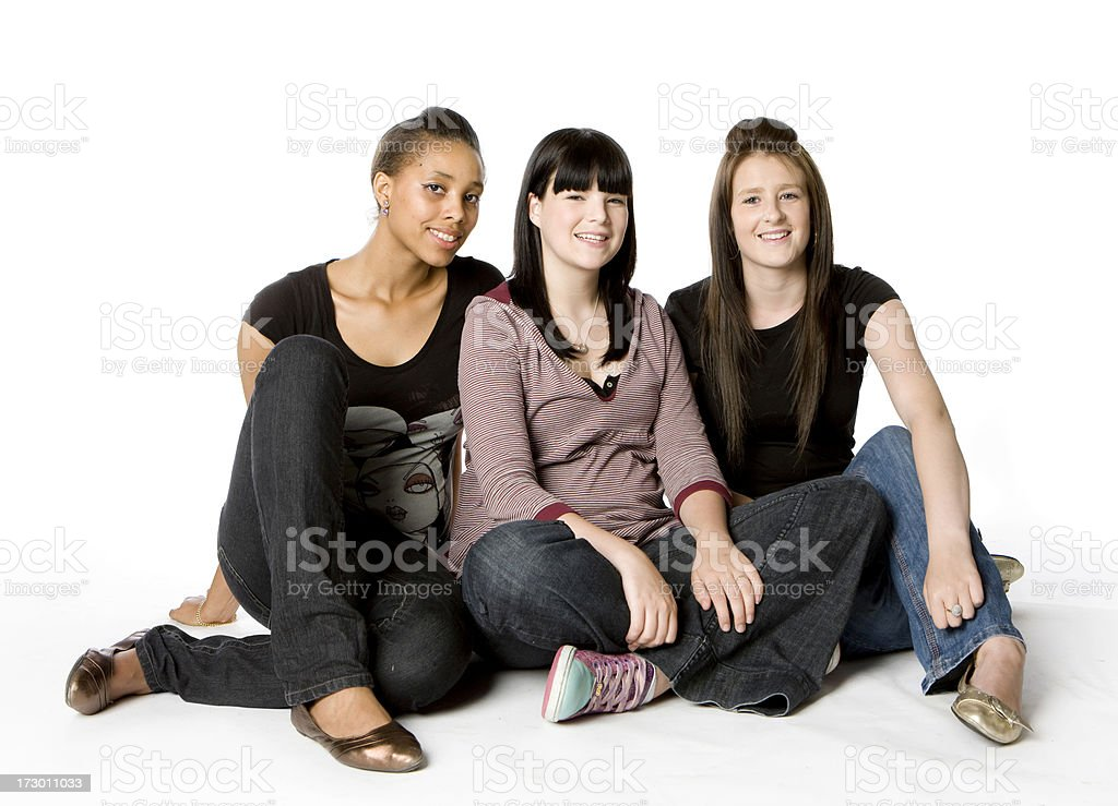 further education: friends royalty-free stock photo